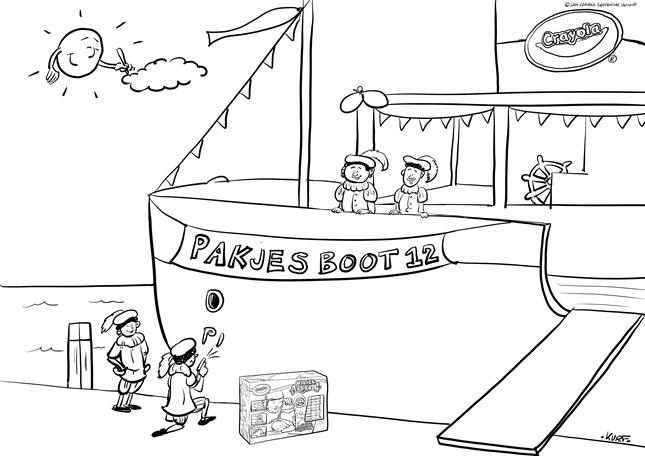 Gratis Kleurplaten Sinterklaas Stoomboot.Sinterklaas Kleurplaat 4 Crayola Nl